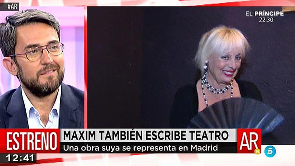 Màxim debuta como escritor de teatro