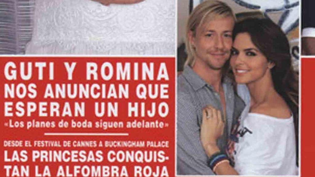 Guti y Romina esperan su primer hijo