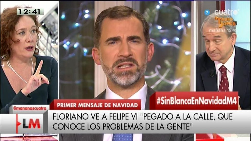 "Cristina Fallarás: ""Creo que Felipe VI y Pablo Iglesias se gustan"""