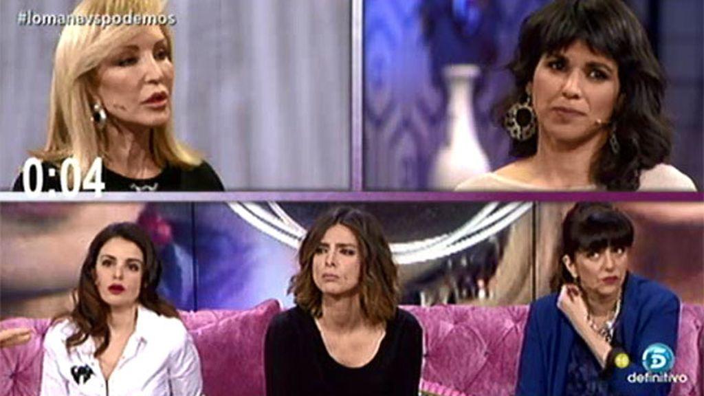 Carmen Lomana gana a Teresa Rodríguez en el debate