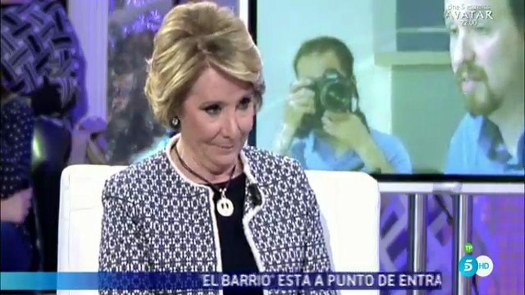 """Esperanza Aguirre: """"El señor Pablo Iglesias me pone cantidad de querellas"""""""