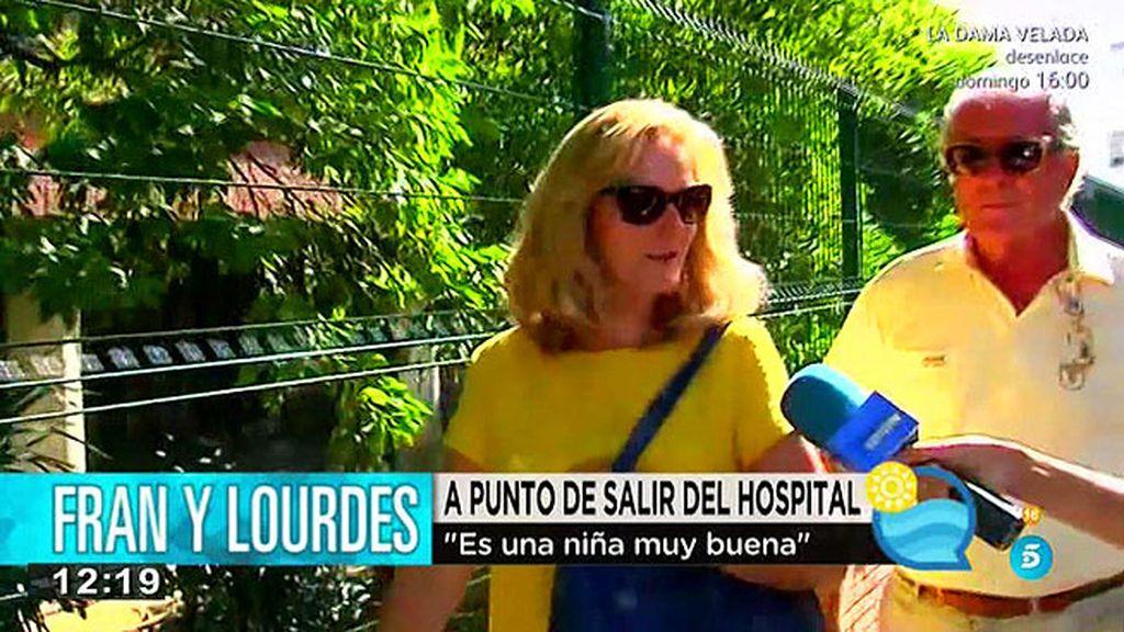 """La madre de Lourdes Montes: """"Lourdes está fenonenal y la niña es buenísima"""""""