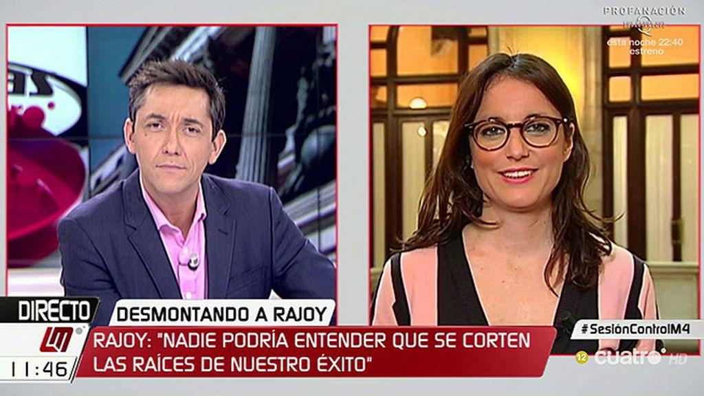 """Andrea Levy: """"Algunos van al parlamento con cuentos pero el Gobierno tiene que cuadrar las cuentas"""""""