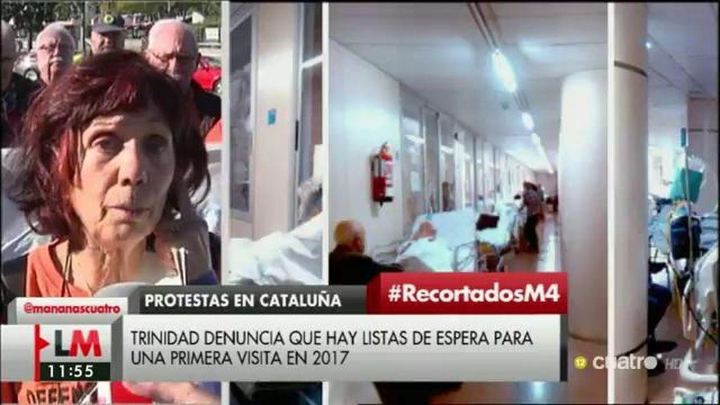 """Trinidad Cuesta, auxiliar de enfermería: """"Que los recortes se  reviertan"""""""