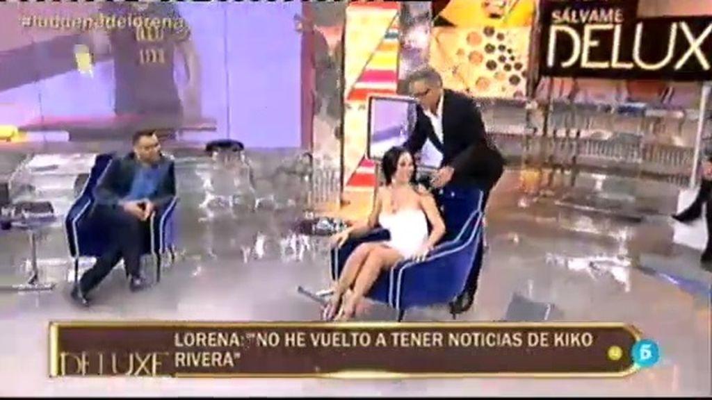 """Kiko Hernández """"palpa"""" la nueva talla de Lorena da Souza... ¡y le baja el vestido!"""