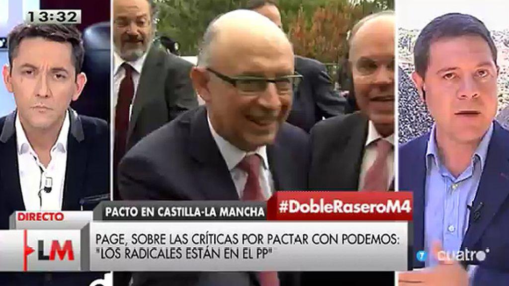 """E. García-Page: """"La clase dirigente del PP sigue jugando a una estrategia frentista"""""""