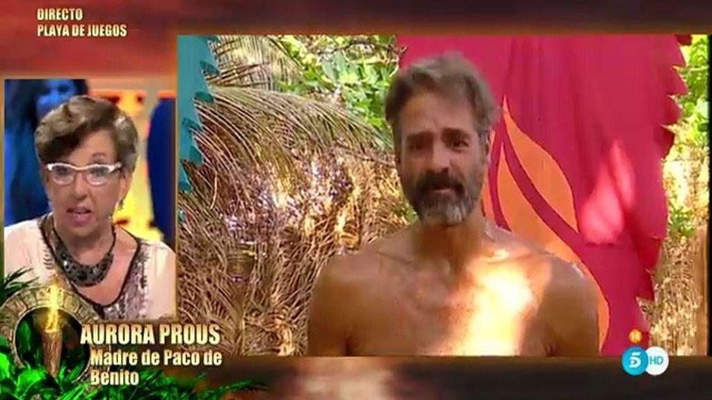 """Paco, emocionado al hablar con su madre: """"Cuando vuelva no vamos a discutir tanto"""""""