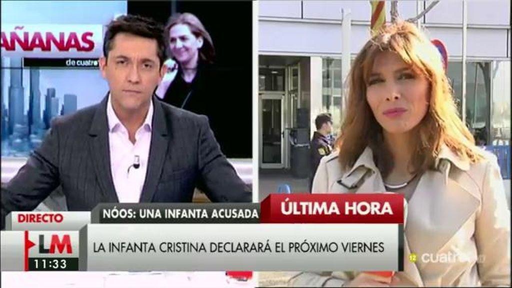 Se adelanta la declaración de la Infanta Cristina al viernes 19 de febrero