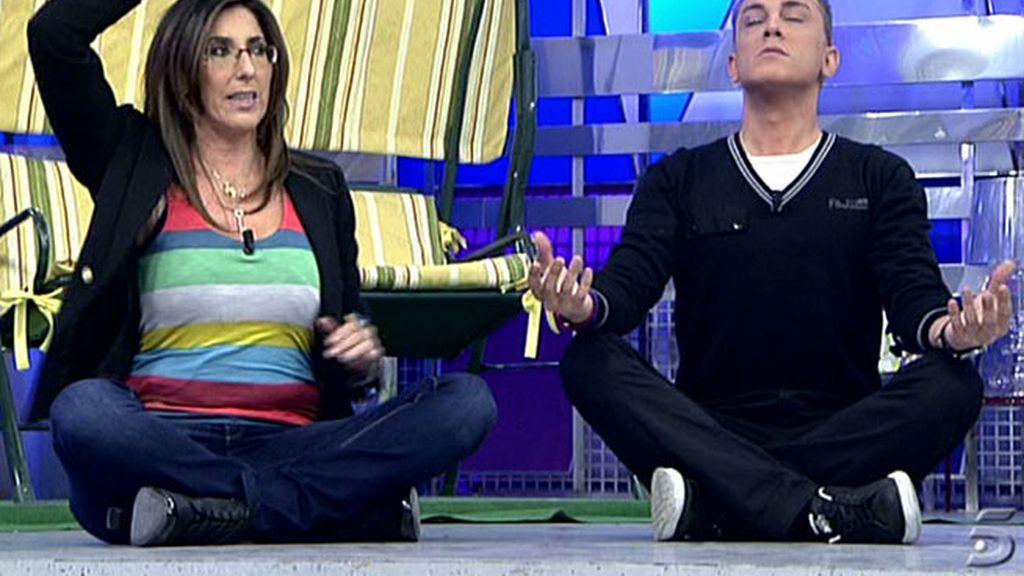 Una clase de yoga poco usual