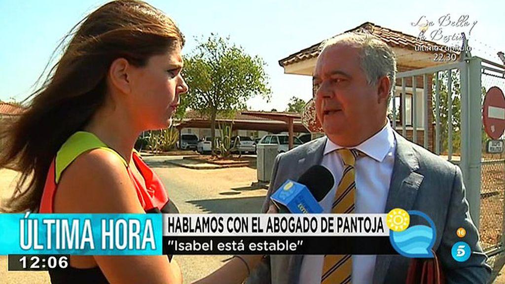 """Carlos Esteban, abogado de Pantoja: """"Está estable y sigue la dieta del hospital"""""""