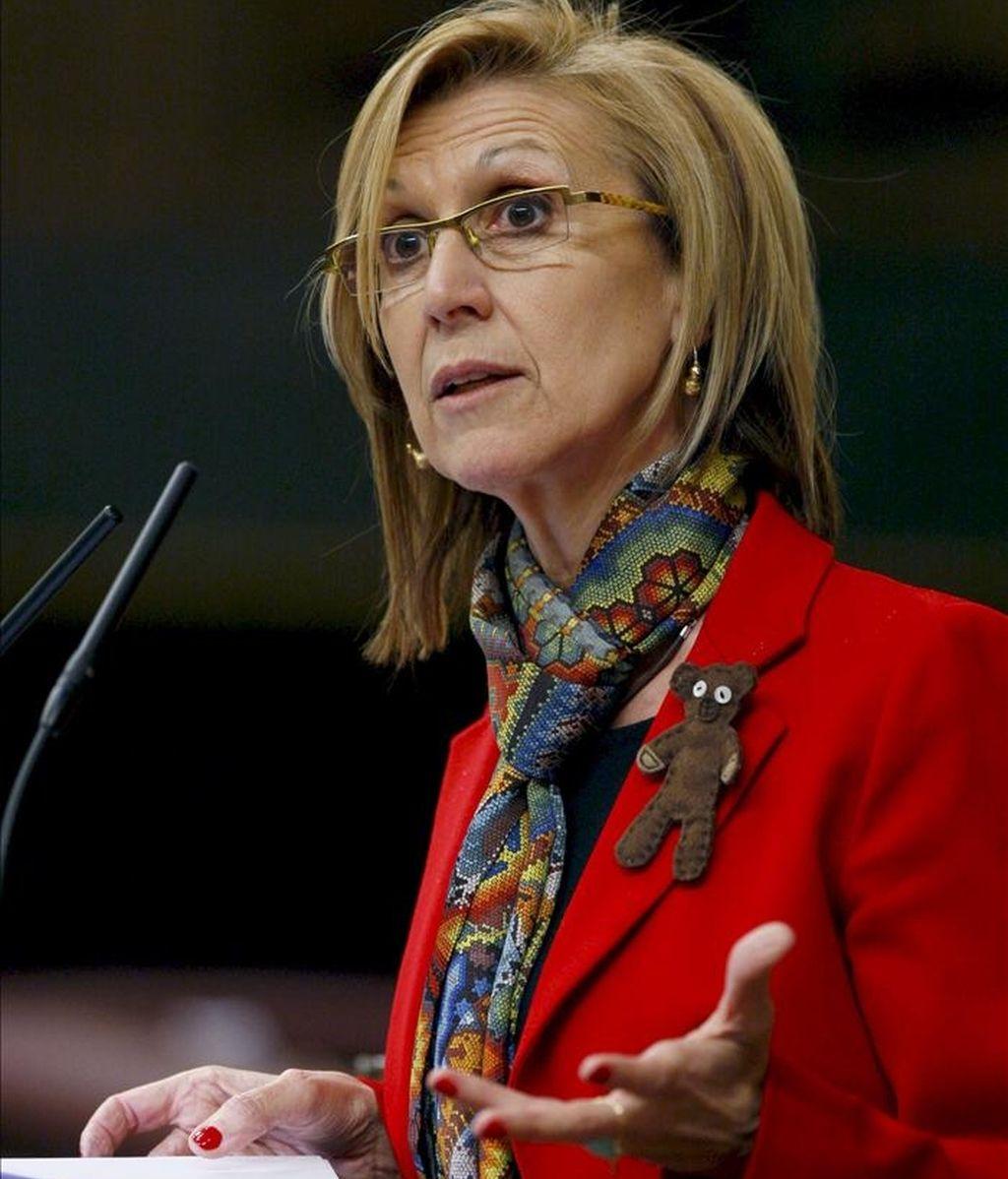 La diputada de UPyD, Rosa Díez. EFE/Archivo