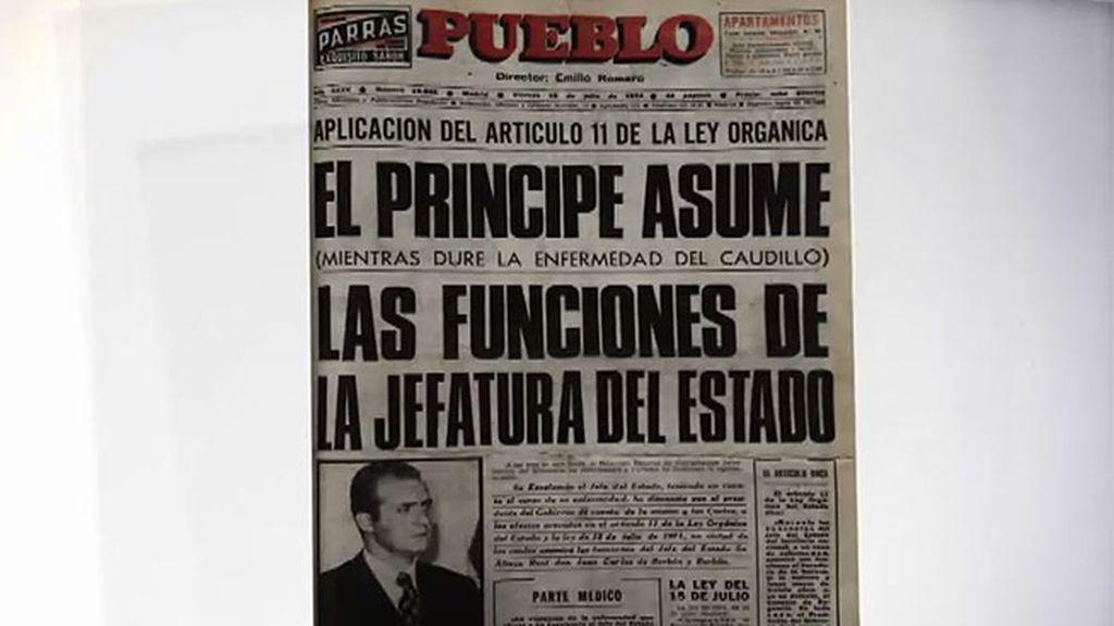El Rey, Jefe de Estado interino por la enfermedad de Franco, es ninguneado por Arias Navarro