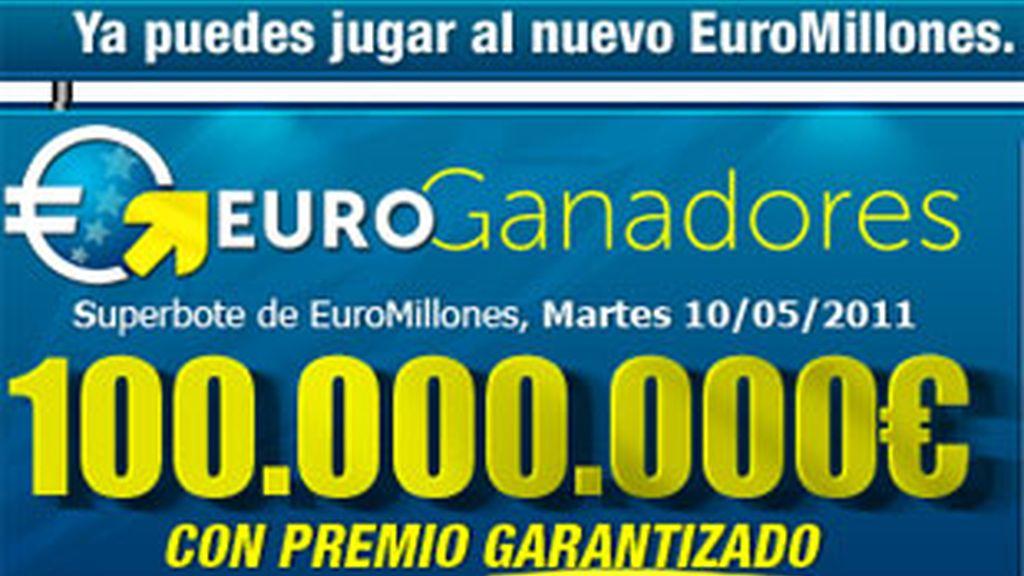 El nuevo Euromillones estrena un bote de 100 millones.