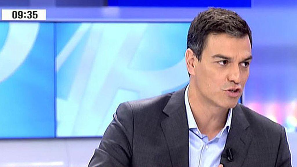 """Sánchez: """"Siempre que gobierna la derecha aumenta el independentismo"""""""