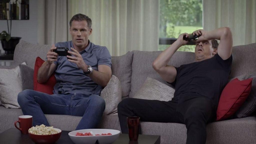 Así descubren Jamie Carragher y Gary Neville al nuevo modo de juego en FIFA 16