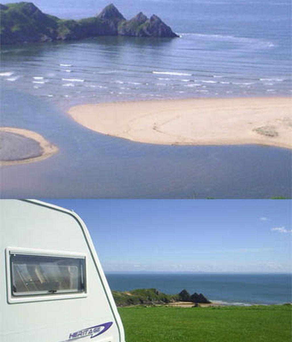 Three cliffs bay, al oeste de Inglaterra