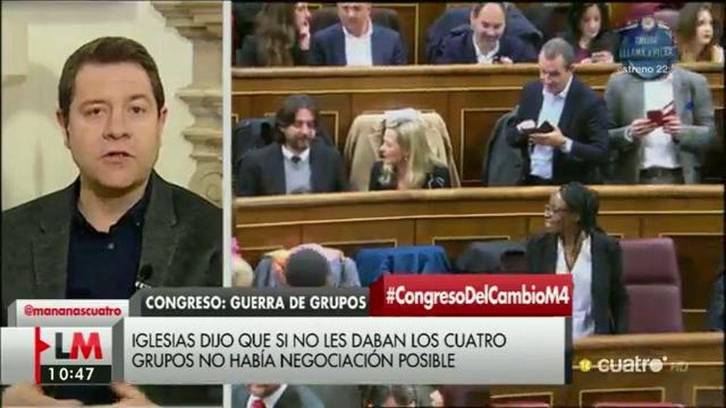 """García-Page: """"Soy optimista con una investidura de Pedro Sánchez"""""""