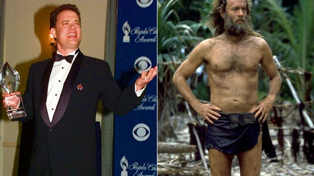 Tom Hanks perdió 25 kilos para protagonizar 'Naúfrago'
