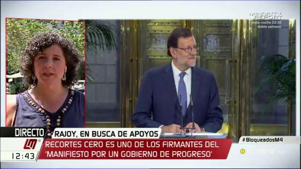 """Nuria Suárez (Recortes cero): """"Se puede romper el bloqueo si los políticos atienden a la voluntad de la mayoría en las urnas"""""""