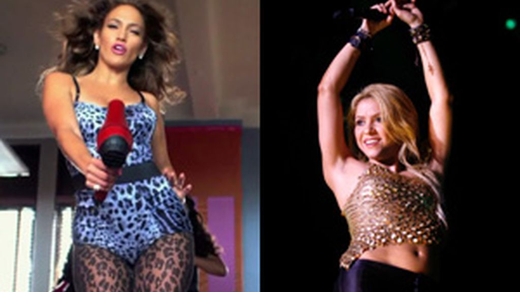 Jennifer López y Shakira, dos bellezones y artistas FOTO: GTRES