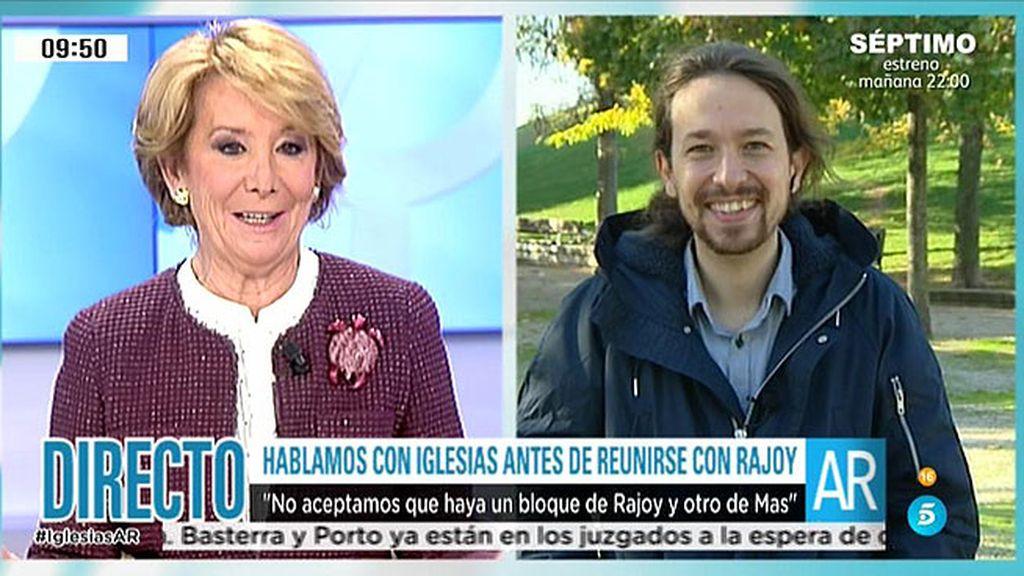 Pablo Iglesias responsabiliza al Partido Popular de la situación en Cataluña