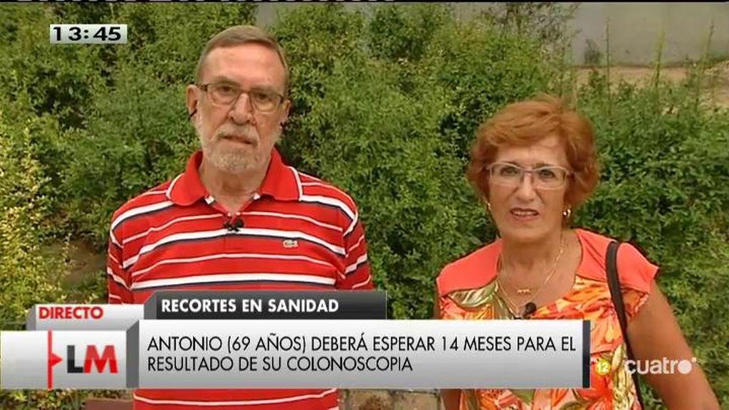Antonio denuncia una espera de más de año y medio para el resultado de una colonoscopia
