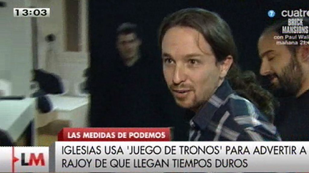"Pablo Iglesias: ""Winter is coming para el gobierno de Rajoy"""