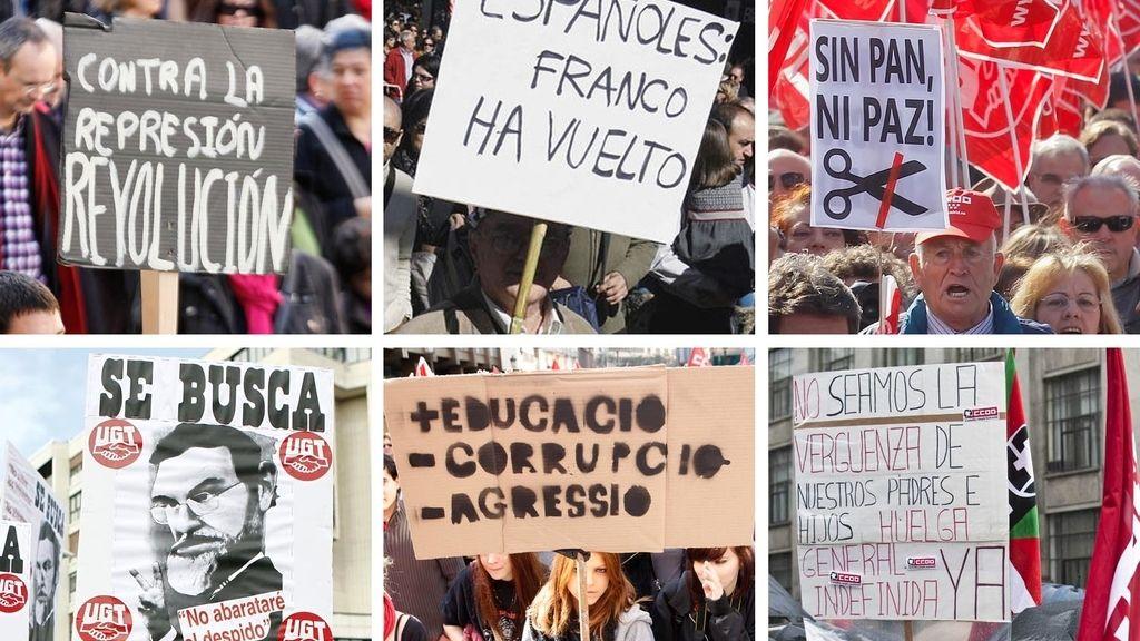 Los lemas de las manifestaciones