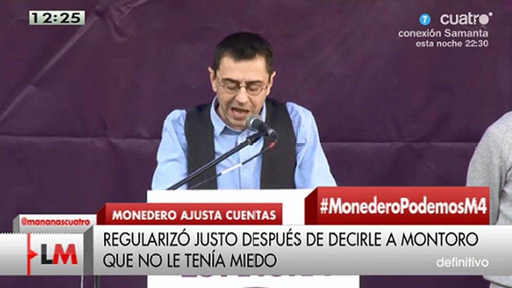 """Monedero decía a Montoro: """"No te tengo miedo, tengo mis cuentas muy en regla"""""""