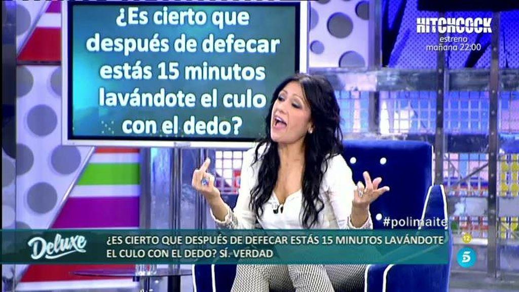 Maite persigue a Kiko y Belén Esteban con el dedo con el que se limpia tras defecar