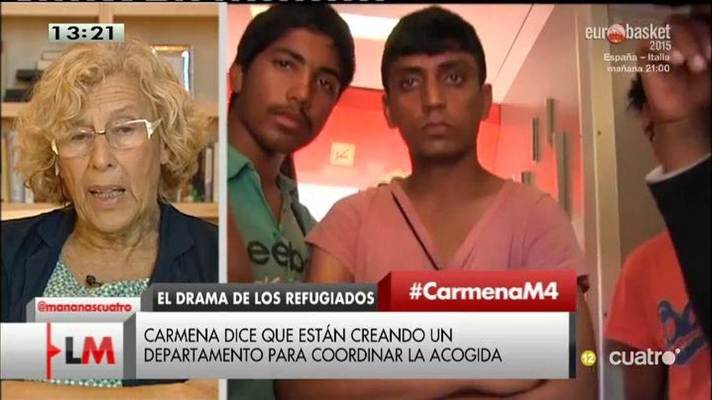 """Carmena: """"No paramos de recibir llamadas de madrileños que quieren ayudar"""""""