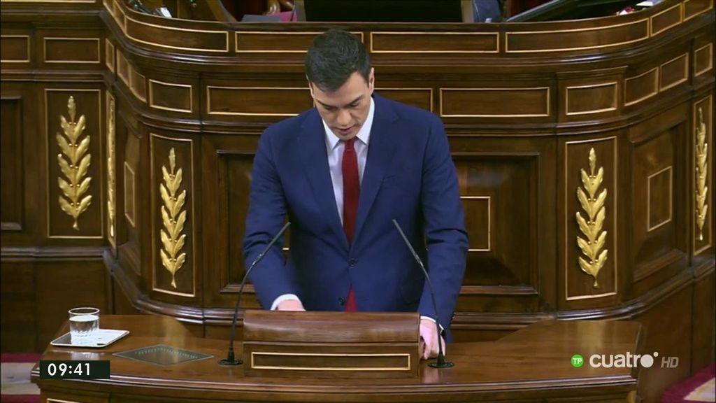 """Sánchez: """"Tenemos la oportunidad de desterrar el insulto, la descalificación que ha perpetrado el señor Rajoy"""""""