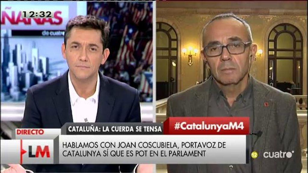 """Joan Coscubiela: """"No tiene sentido que la prioridad del Parlament no sea el plan de rescate ciudadano que hemos planteado"""""""