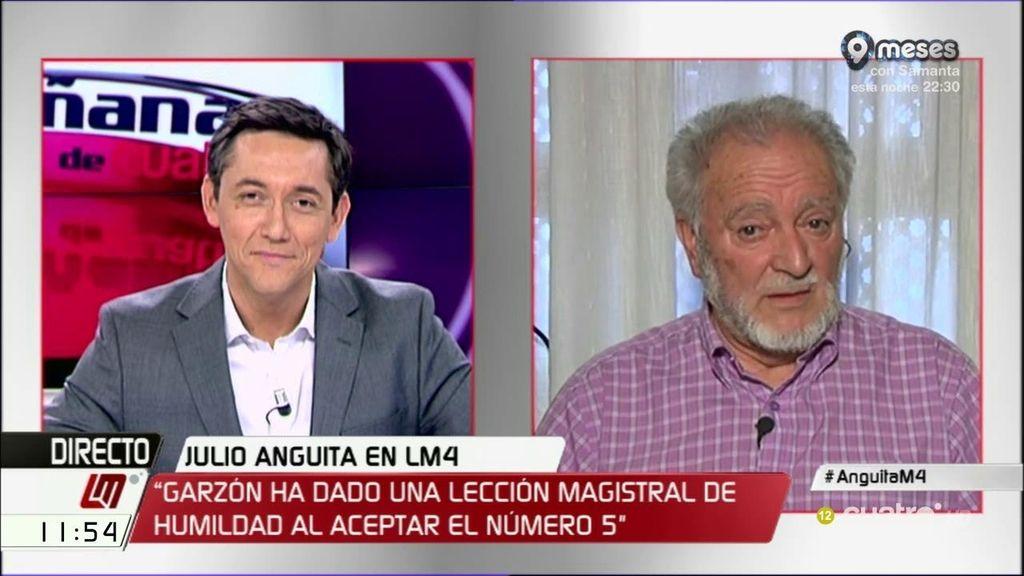 """Julio Anguita: """"En política, el pueblo debe saber distinguir entre charlatanes y personas medianamente serias"""""""
