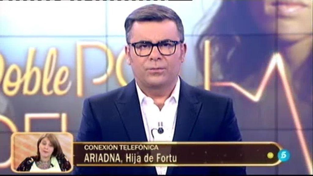 ¡Así ha sido la llamada telefónica de Ariadna, la hija de Fortu, al 'Deluxe'!