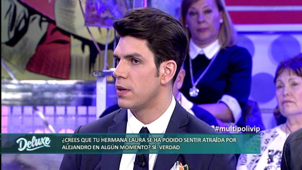 Diego Matamoros cree que su hermana Laura se ha sentido atraída por Alejandro