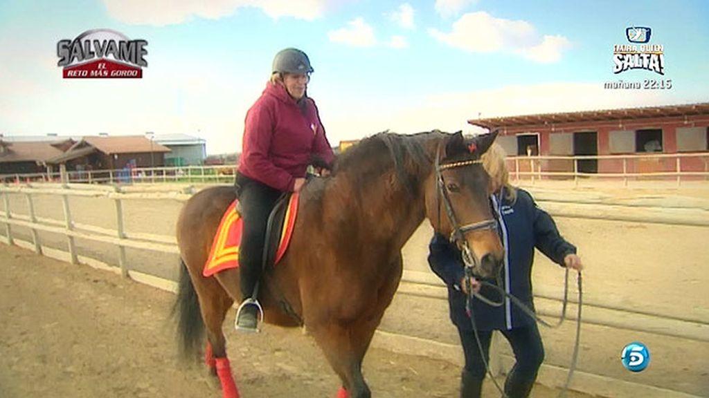 Carmen continúa con su entrenamiento para perder peso
