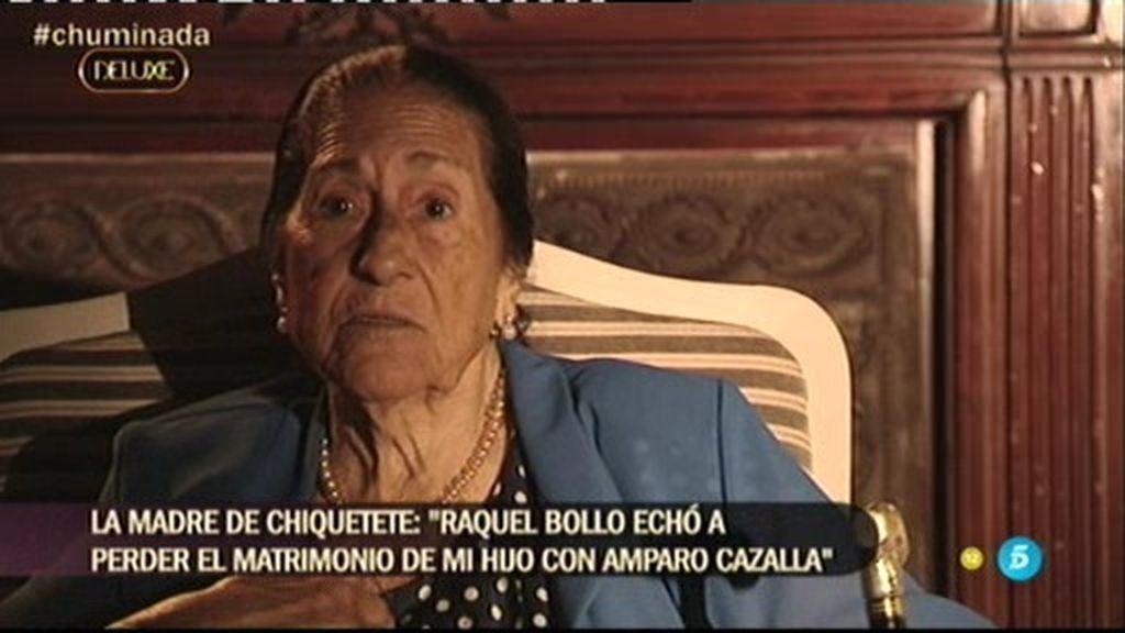 "La 'Chumina', sobre Raquel Bollo: ""Terminó con el primer matrimonio de mi hijo"""