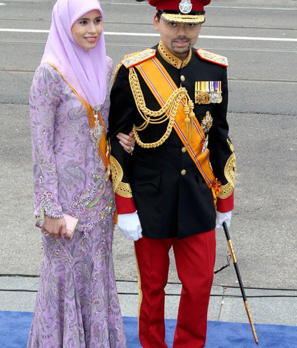 El príncipe de Brunei y su esposa