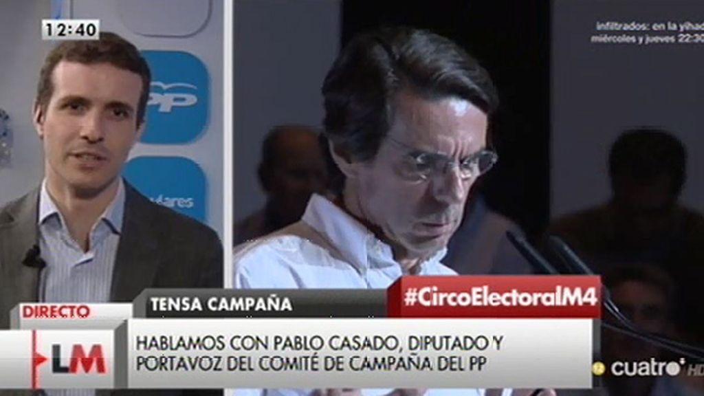 """Pablo Casado: """"El Partido Popular no se puede explicar sin Aznar"""""""