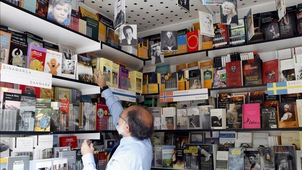 Stand de la Feria del Libro especializado en literatura nórdica. EFE/Archivo