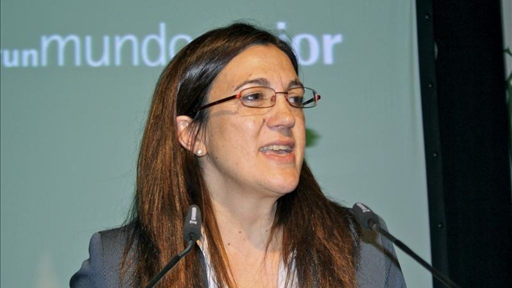Fotografía facilitada por AECID de la secretaria española de Cooperación Internacional, Soraya Rodríguez, quien visita hoy Túnez y campos de refugiados fronterizos. EFE/Archivo