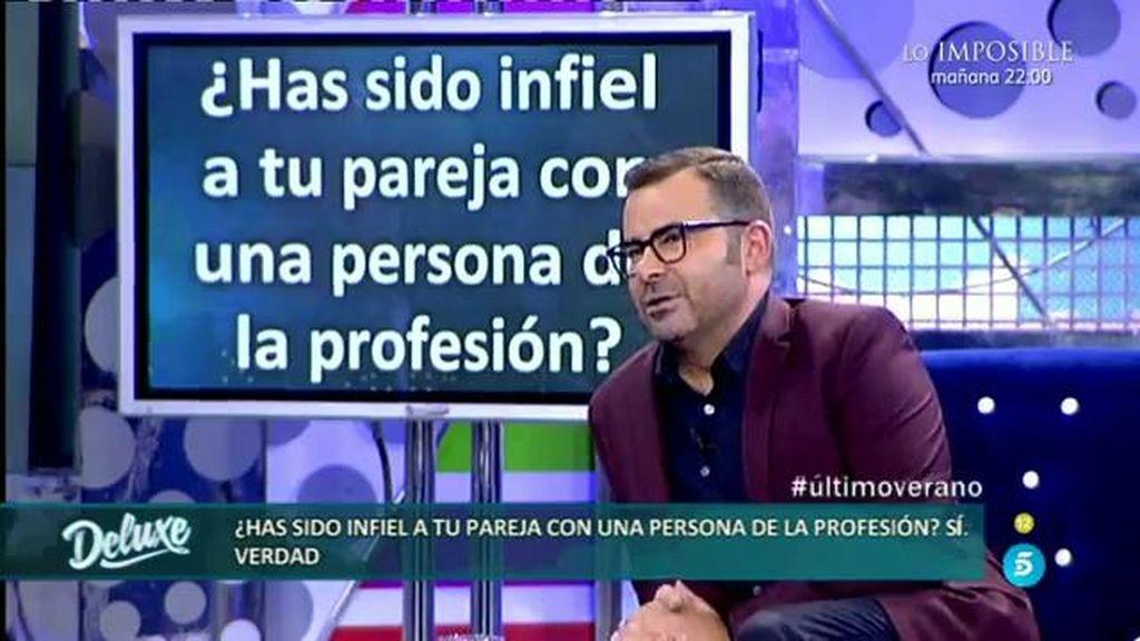 Jorge Javier reconoce que ha sido infiel a su pareja con una persona de la profesión