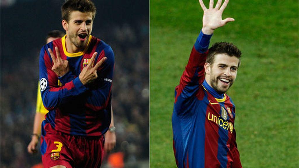 2010: A pesar de ser defensa, Piqué es asiduo al gol de vez en cuando
