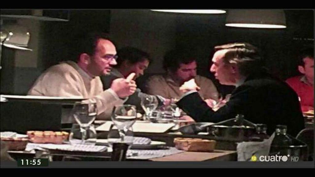 La cena de Antonio Hernando y Rafael Hernando