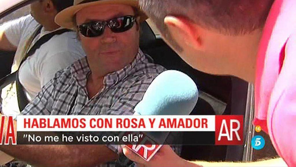 "Amador Mohedano: ""Sé que Rosa está en Chipiona pero no hemos coincidido"""