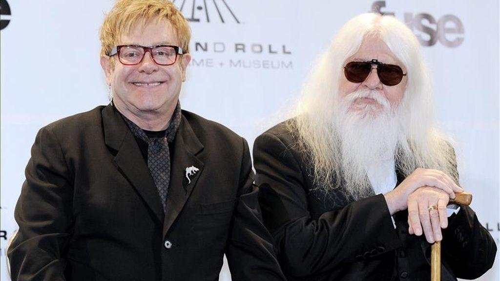 """La atención de la apertura del festival neoyorquino recae sobre la estrecha colaboración firmada entre Elton John (i) y Leon Russell (d) para crear el álbum """"The Union"""". EFE/Archivo"""