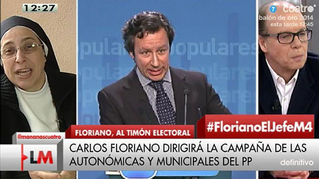 """Sor Lucía: """"Floriano es el jefe del circo mediático que se están montando de nuevo"""""""