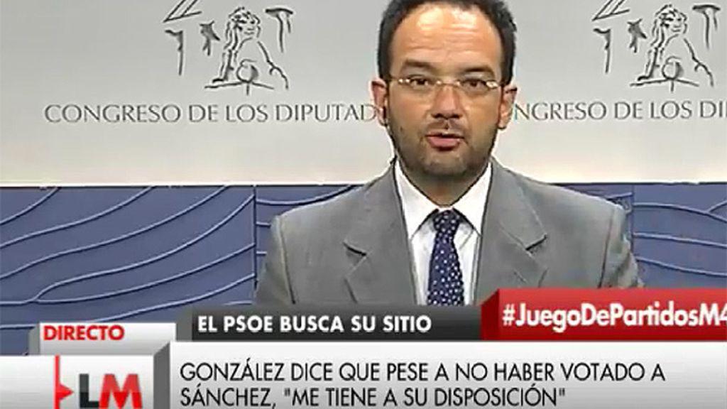 """A. Hernando: """"Lo que hizo Felipe González fue demostrar la lealtad a las siglas y a los dirigentes"""""""