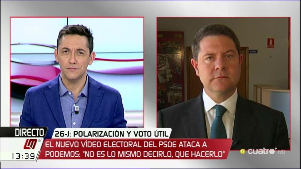 """Emiliano García-Page: """"Más que 'sorpasso', va a haber sorpresa"""""""